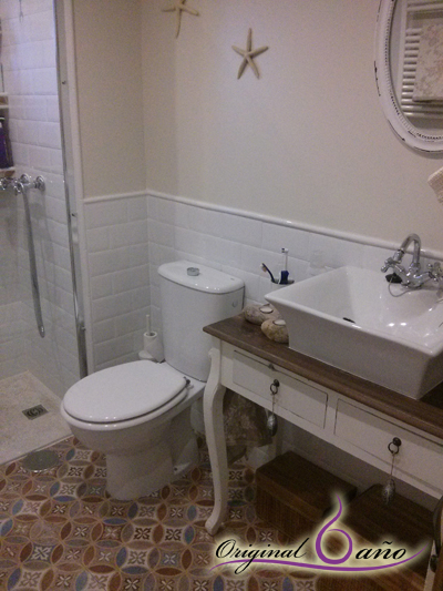 Muebles Baño Vintage:CONSEJOS BAÑO : Elige un mueble de baño que se integre bien con el