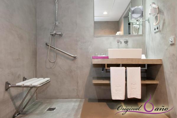 Baño Pequeno Microcemento:Accesorios de Baño-Original-Baño