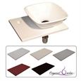 Imagen de Conjunto de baño mini lavabo sobre encimera